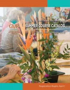 GVR 2016 Summer Course Catalog Design